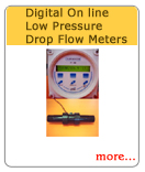 Digital On Line Low Pressure Drop Flow Meters